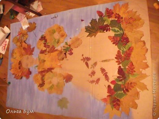"Незаконченная работа ""Красавица-осень"" на школьную выставку. фото 4"