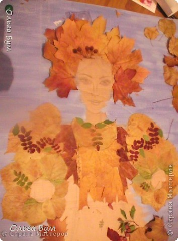 "Незаконченная работа ""Красавица-осень"" на школьную выставку. фото 1"