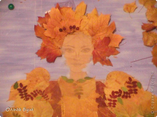 "Незаконченная работа ""Красавица-осень"" на школьную выставку. фото 3"