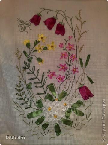 цветы из лент фото 2