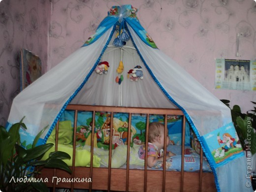 Балдахин в кроватку с бортиками фото 4