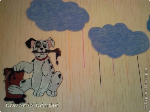 так я оформила одну из стен в раздевалке для выставки детских работ фото 1