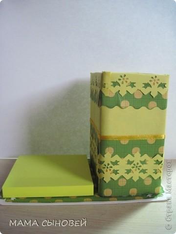 подставка для ручек+блок для записей фото 1