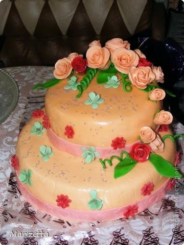 Мастичный тортик фото 1