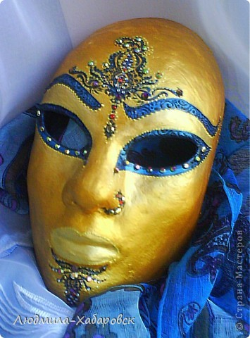 1. вот такие маски из папье-маше у меня получаются фото 1