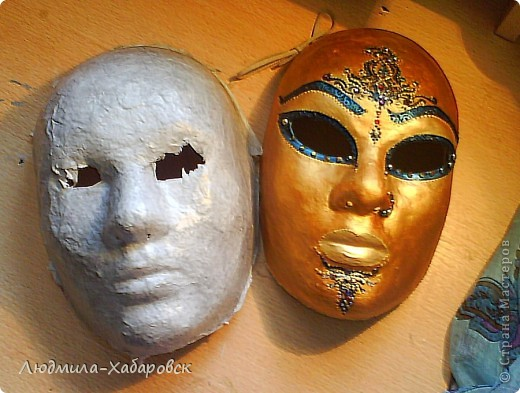 1. вот такие маски из папье-маше у меня получаются фото 2