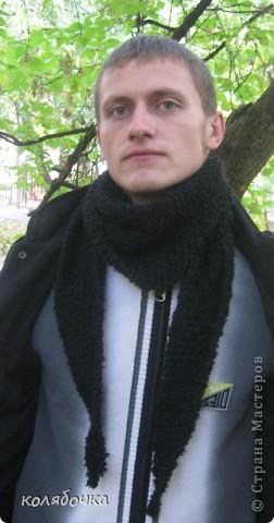 Бактус-треугольный шарф-косынка. Еленочка, спасибо вам большое за МК простой и понятный. У вас учиться - удовольствие. http://stranamasterov.ru/node/91002 - МК от Елены фото 4