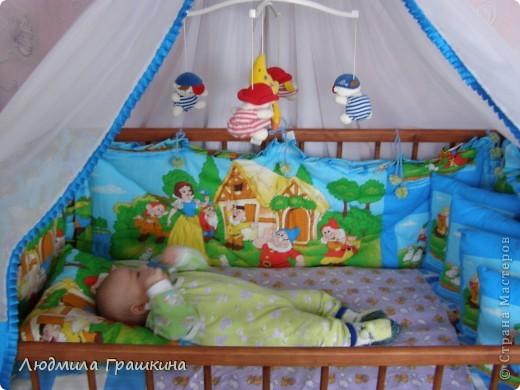 Балдахин в кроватку с бортиками фото 8