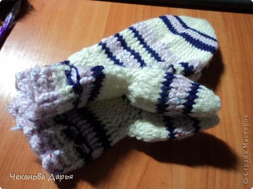 Вот такие у меня получились варежки! вдохновилась МК http://stranamasterov.ru/node/98266?tid=451 фото 3