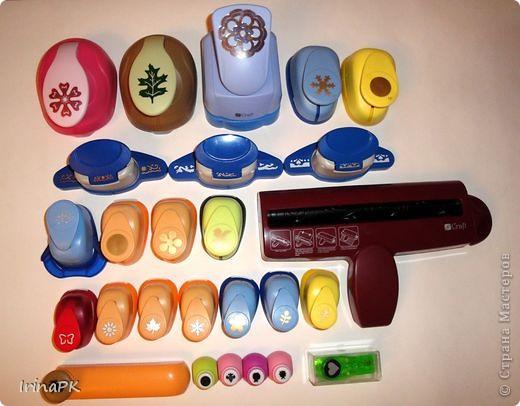 Сегодня пополнила свою коллекцию инструментов (дыроколы, кримпер для тиснения, эмбоссер для тиснения, дыроколы с тиснением). фото 1
