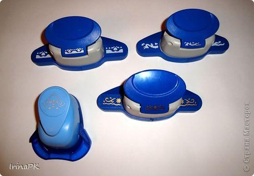 Сегодня пополнила свою коллекцию инструментов (дыроколы, кримпер для тиснения, эмбоссер для тиснения, дыроколы с тиснением). фото 5