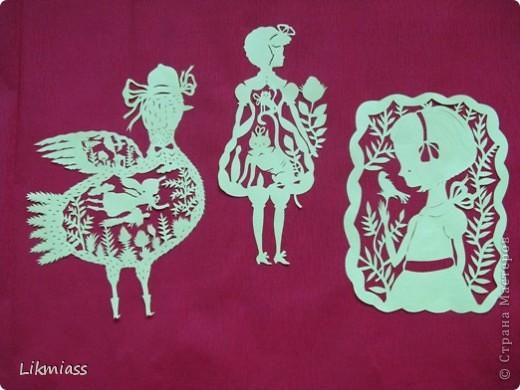 Из чего же, из чего же, из чего же Сделаны наши девчонки? Из платочков и клубочков,  Из загадок и переглядок Сделаны наши девчонки... Я попробовала повторить работы художницы Эльсы Мора http://elsita.typepad.com/photos/paper_sculptures/ фото 1