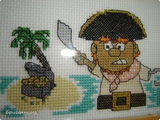Схема для вышивки пираты 742