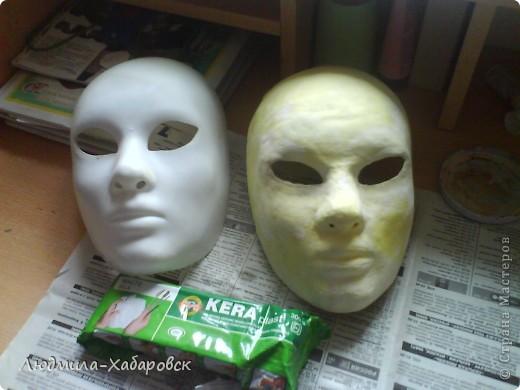 1. вот такие маски из папье-маше у меня получаются фото 3