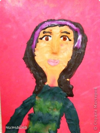 Наши мамы.Портреты из пластилина. фото 6