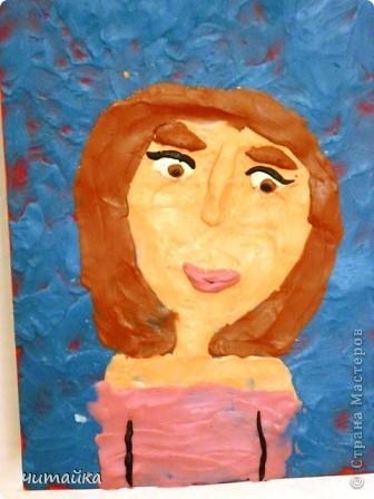 Наши мамы.Портреты из пластилина. фото 3