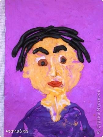 Наши мамы.Портреты из пластилина. фото 5