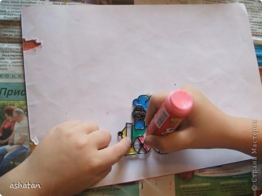 Самостоятельная работa.   Материалы: витражные краски в тюбиках, витражная основа  фото 6
