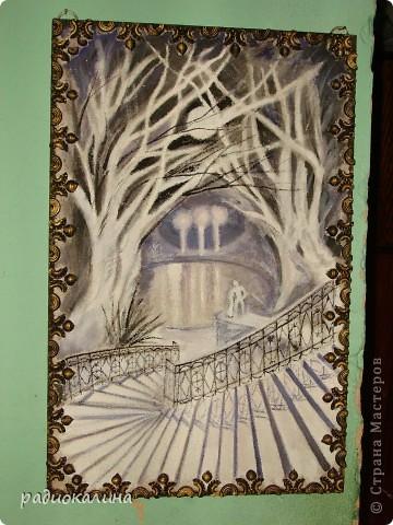 Когда я увидела иллюстрации книги стихов художницы Шеваревой - сразу поняла что обязательно попробую нарисовать, ведь если учиться то у хорошего мастера. Сначала сделала панно с помощью макарон, а теперь вот нарисовала, а как - судить вам. фото 1