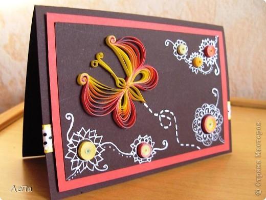 Вот такая открытка родилась у меня под впечатлением от этого МК http://stranamasterov.ru/node/44289 от Anjuta. Анна,спасибо Вам большое!!!! Не смогла пройти мимо Вашего Аленького просто так.)))) Руки требовали начать работу прямо в 2 часа ночи,еле дожила до утра!!!))) Не знаю куда ее определю,но думаю будет подаренна на День Рождения тетушке (она обожает мои рукоделки)))). А мне самой эта открытка очень нравится!!! фото 2