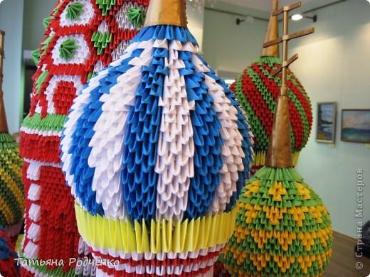 Поделка изделие Экскурсия Оригами китайское модульное  Собор Василия Блаженного Модульное оригами Бумага фото 7