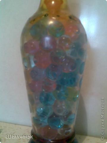 Бутылочка заполненная растущими шариками. фото 5