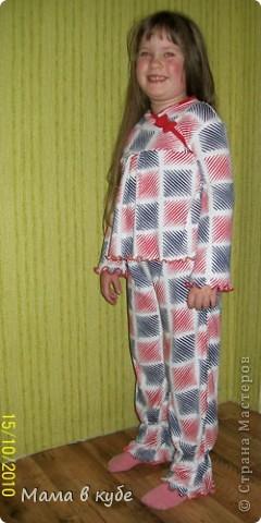 Вот такая пижамка у нас сшилась  фото 1