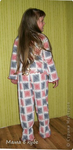Вот такая пижамка у нас сшилась  фото 2
