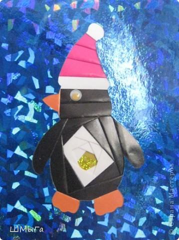 Совсем скоро зима и вместе с ней выставки декоративно-прикладного творчества. Еще одна прошлогодняя работа моих кружковцев. Основа - галографический картон. фото 4