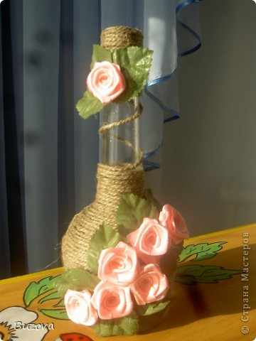 Декорации бутылок своими руками фото