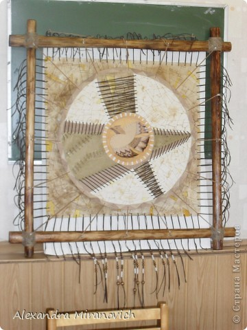Сараки-праздник весны,когда прилетают первые 40 птиц-40 жаворонков.Именно этот праздник навеял идею этого панно. фото 1