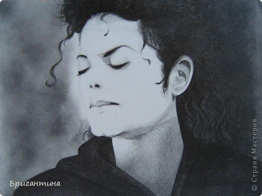 Рисунок моей сестры. Майкл Джексон. фото 1