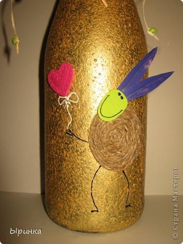 Бутылка шампанского и конвертик для денюшки  фото 2