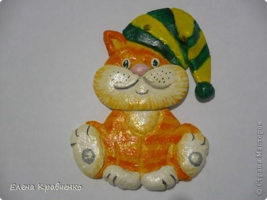 Котенок-новогодняя игрушка фото 1