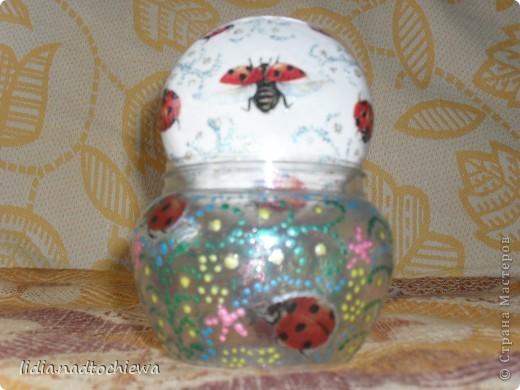 баночки от крема и стеклянная баночка. фото 4