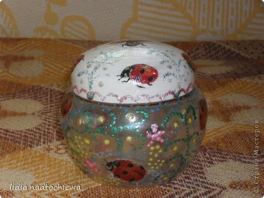 баночки от крема и стеклянная баночка. фото 3