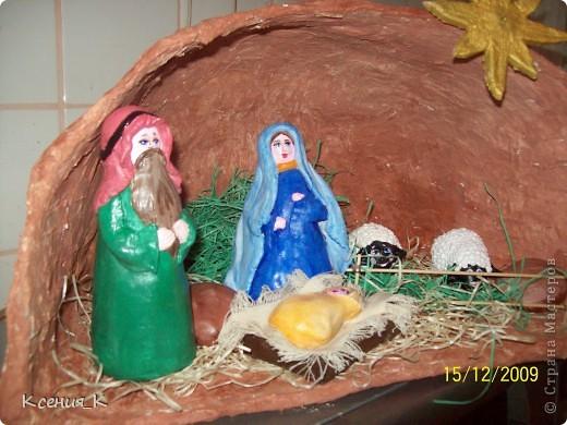 Вертеп рождественский своими руками из теста