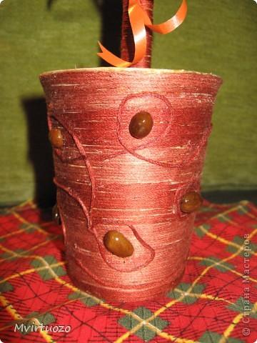 Вот и я, путем проб и ошибок, делок и переделок, создала свое первое деревце - кофейное. :) фото 3