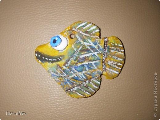 Как только увидела здесь работы Кукушечки,ANAID,Дватая почуствовала,что заражение неизбежно. Это мои первые кривенькие рыбки.  фото 2