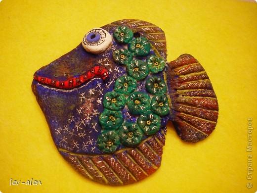 Как только увидела здесь работы Кукушечки,ANAID,Дватая почуствовала,что заражение неизбежно. Это мои первые кривенькие рыбки.  фото 3