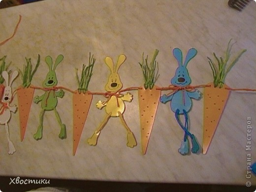 Задобрим символ Нового года - ЗАЙЦА? Какой же заяц не мечтает о морковке? А лучше о морковке размером с самого зайца? Воплотим его мечту в жизнь, а заодно и украсим свой дом весёлой гирляндой!!! фото 2