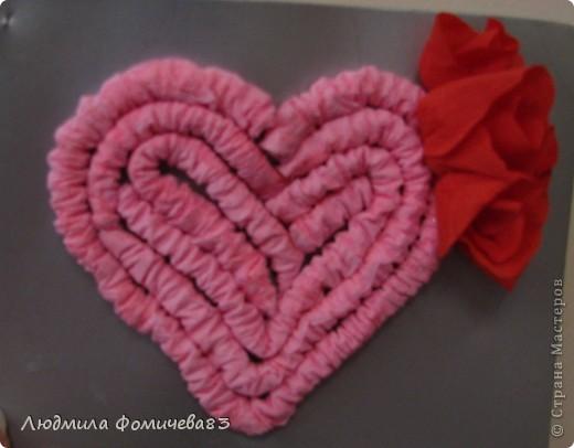 Открытка к дню Св. Валентина была сделана 10 февраля 2010 года