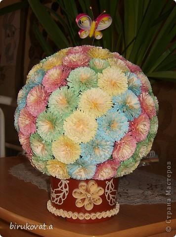 Мой цветочный шар. Воспользовалась идеей Vitulichka в блоге http://stranamasterov.ru/node/90083?tid=451 фото 1