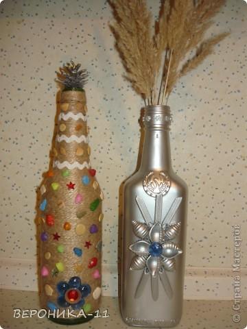 вот такие бутылочки у нас с дочей получились.