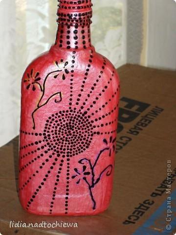 Бутылка-ошибка (не получившийся кракелюр). фото 1