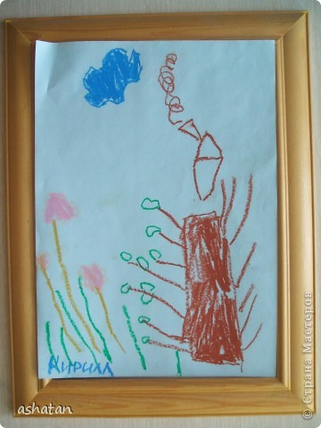 Рисунок восковыми мелками. Выполнено 17.10.2010г. фото 2