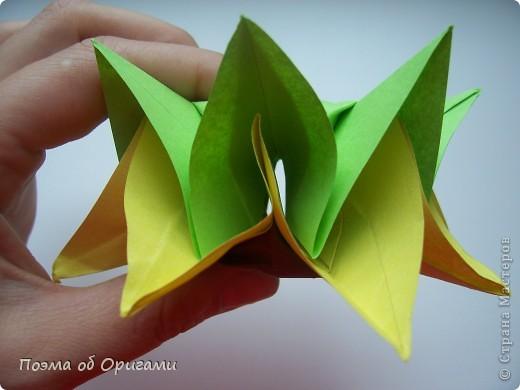 Подсолнухи как символ солнца и одновременно прощание с окончательно ушедшим от нас в этом году теплым летом. Этот чудесный оригами подсолнух придумала Нилва Пиллан (Италия). фото 21