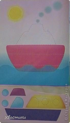 Накопилось у Тимошки много, на мой взгляд, интересных работ. Вот показываю вам. Это наши аппликации из геометрических фигур. Я нарезала из картона фигуры, обвела их на листе. Задача Тимофейки - вклеить (на клей-карандаш) соответствующие фигуры в контур. Полностью справился сам. Устал только на нижнем треугольнике ёлочки - помогла. Делал в 2г 3 мес. Повторяли цвета и фигуры (попутно развивая мелкую моторику, усидчивость и внимательность). фото 13