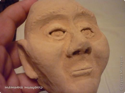 Голова человека из пластилина своими руками