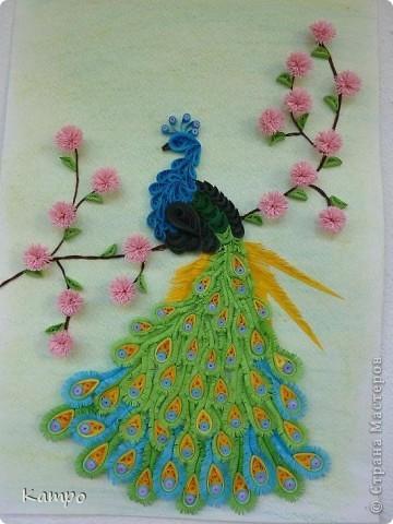 """Увидела работу Ольги Ольшак""""Царская птица"""" и захотела сделать такую же птичку.Спасибо за МК!"""